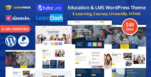 Edubin - Education LMS WordPress Theme