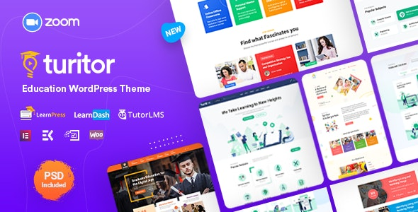 Turitor - LMS & Education WordPress Theme