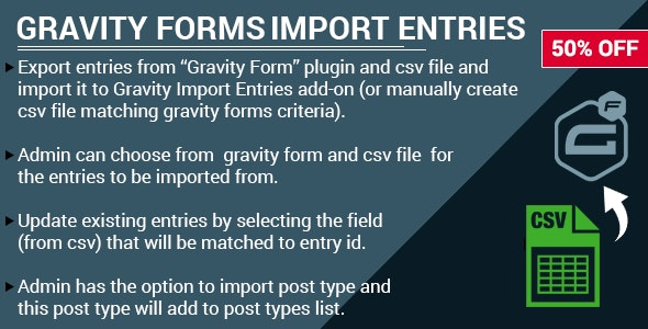Gravity Forms Import Entries Addon